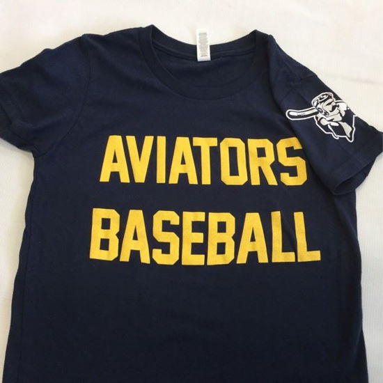 """Picture of Youth - Navy """"Aviators Baseball"""" T-Shirt"""