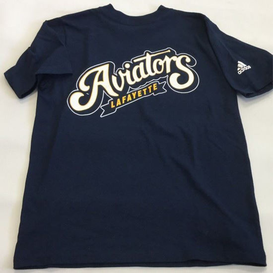"""Picture of Youth - """"Aviators Script"""" Navy T-Shirt"""