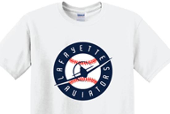 Picture of Flying Plane Baseball Design - White