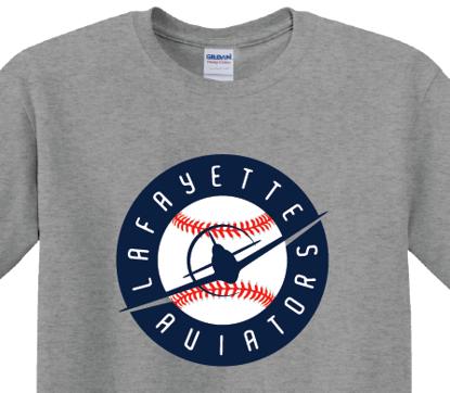 Picture of Flying Plane Baseball Design - Grey