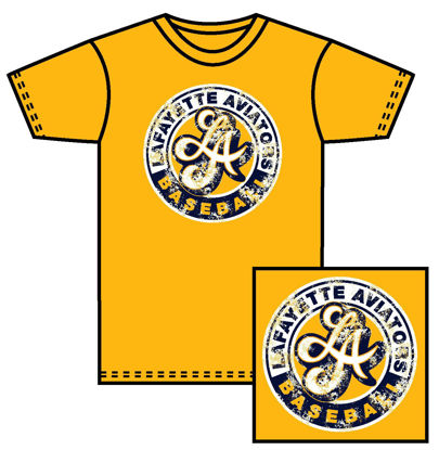 Picture of Distressed Circle Logo - Yellow